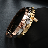 Luxury Studded Padlock Bracelet