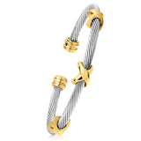 Vintage-Twisted-Cable-Bracelet-Titanium-Steel-Womens-Mens-Designer-Inspired-David-Yurman-Style-Sale-Gold-Cross-X