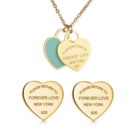 Forever-Love-Tiffany-and-Co-Style-Designer-Inspired-Double-Heart-Silver-Enamel-Pendant-Gold-Blue-Set