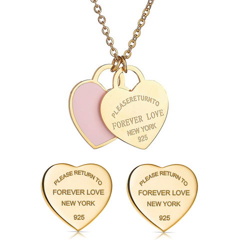 Forever-Love-Tiffany-and-Co-Style-Designer-Inspired-Double-Heart-Silver-Enamel-Pendant-Gold-Pink-Set