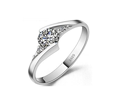 Halo 1.25 Carat Diamond Ring Sterling Silver 925