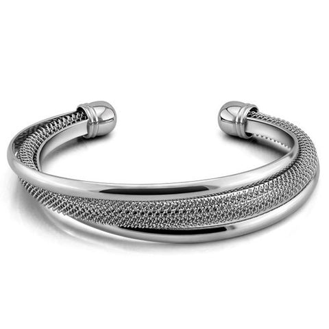 Designer Inspired Double Hoop Mesh Bangle Bracelet - Designer Inspired Co -