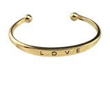 Steel Love Open Cuff Bangle