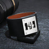 Wide Cuff Leather Wrap Bracelet Unisex 23cm 9 inch Length