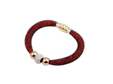 Designer Inspired Stardust Infinity Bracelet Bangle with Steel Magnetic Clasp - Designer Inspired Co - Red - 6