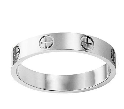 Designer-Inspired-Titanium-Steel-Screw-Cross-Love-Ring-Gift-Women-Men-Cartier-Luxury-Brand-Replica-Copy-Dupe-Outlet-Birthday-Christmas-Silver