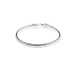 "Designer Inspired Silver 925 Plated 3mm Snake Charm Bracelet Chain 20cm 8"" Fits Pandora Charms - Designer Inspired Co -  - 1"
