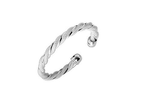 Designer Inspired Spiral Mesh Bangle Bracelet Solid Sterling Silver 925 Plated - Designer Inspired Co -
