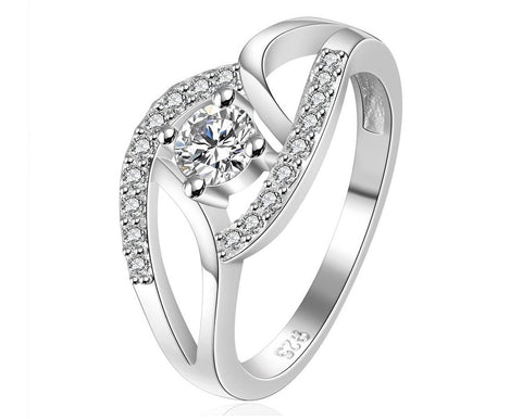 Infinity 1.25 Carat Engagement Diamond Ring Sterling Silver 925 #1