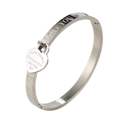 Forever-Love-Titanium-Steel-Heart-Tag-Return-To-New-York-Bracelet-Women-Girls-Gift-Tiffany-Style-Designer-Inspired-Silver