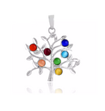 7 Chakra Tree of Life Healing Stones Eternal Pendant Necklace