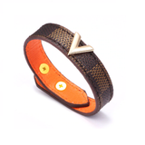 V-LV-Checkered-Leather-Monogram-Bracelet-Designer-Inspired-Louis-Vuitton-Style-Luxury-Brand-Brown-Beige-Black-Mens-Womens-Unisex