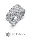 Mesh Woven Ring Sterling Silver 925