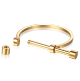 Screw Shackle Steel Cuff Bangle