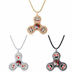 Emoji Fidget Spinner Necklace