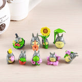 Set of 9 'Summer Time Picnic' Totoro Figures