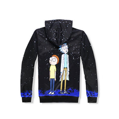 Stargazing Rick and Morty 3D Hoodie