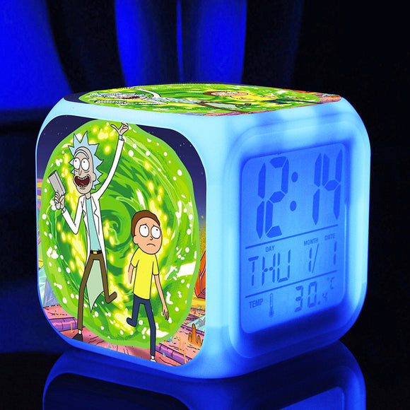 Rick and Morty LED Clock