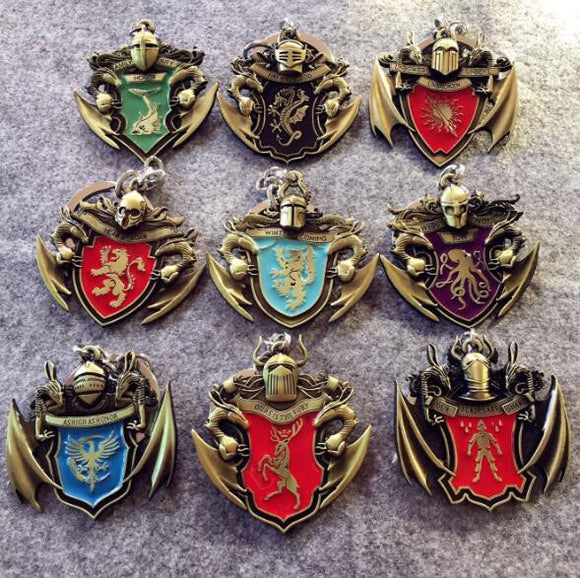 Game of Thrones House Knights Keychains