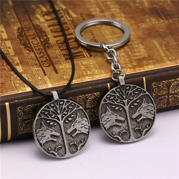 Destiny Two Wolves Keychain + Necklace
