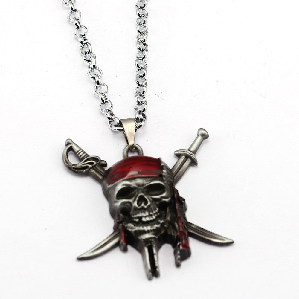 Jack Sparrow Skull Necklace