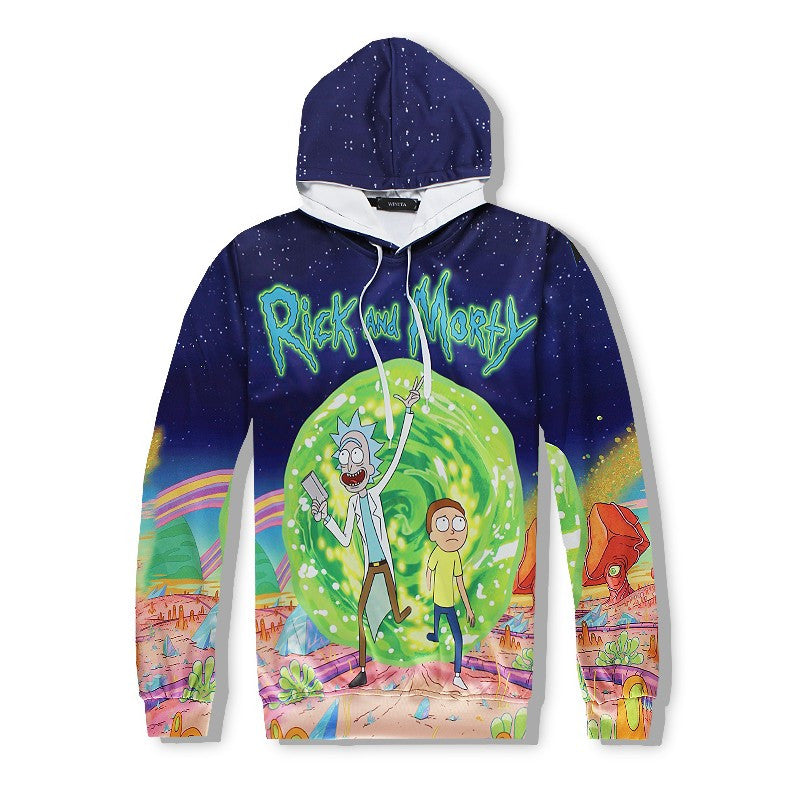 Rick and Morty Portal Gun Adventures - 3D Hoodie x