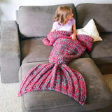 Mermaid Blanket with Fish Scales
