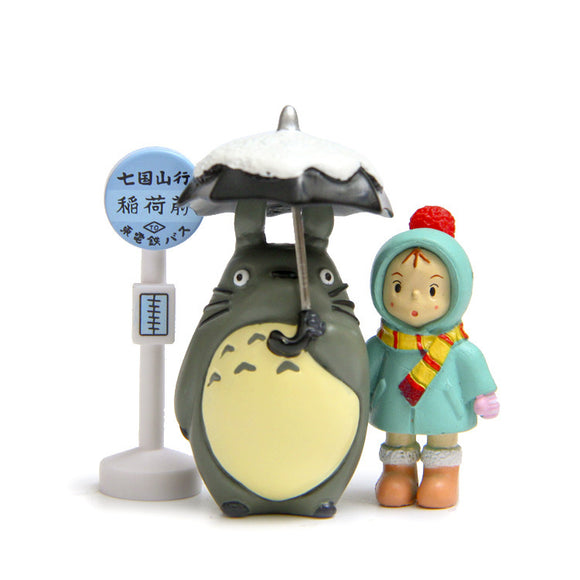 Totoro & Mei at the Bus Stop Figure Set