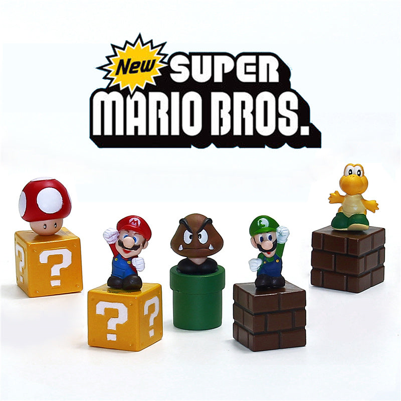 Set of 5 Classic Super Mario Figures