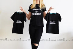 Mother of Dragons - Baby Dragon Combo Shirt