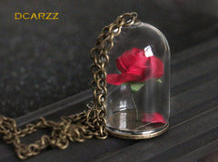 Beauty and The Beast - Enchanted Rose Pendant