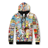 Rick and Morty Adventures 3D Hoodie