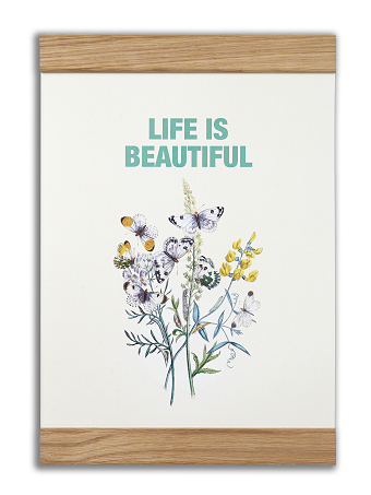 2 in 1 plakat - Life is beautiful - Shop Sund