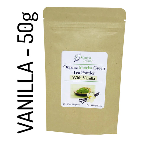 50g - Vanilla Blend - Organic Ceremonial Grade Matcha Green Tea Powder