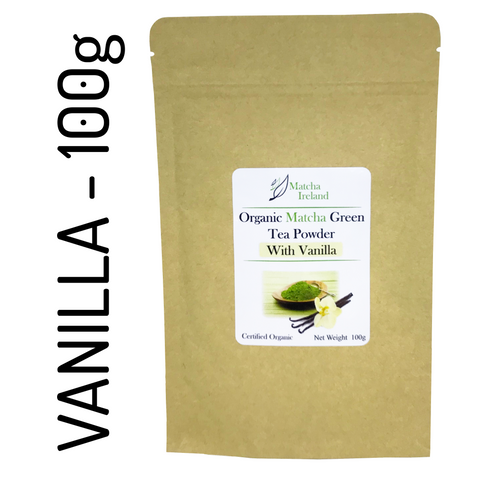 100g - Vanilla Blend - Organic Ceremonial Grade Matcha Green Tea Powder