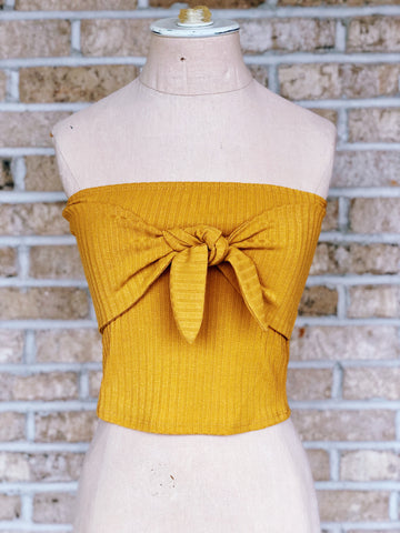 Yellow Ribbed Tube Top
