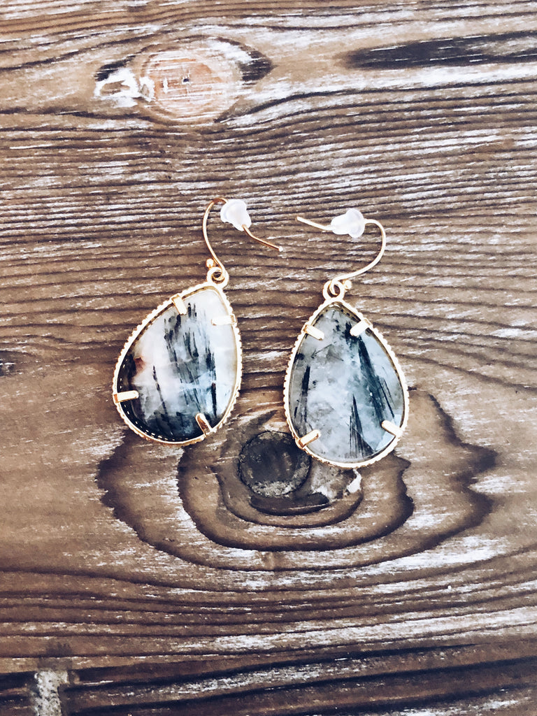Marble Teardrop Earrings