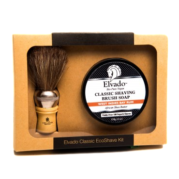 Elvado Classic Shave Kit With West Indies Bay Rum Soap and Shave Brush