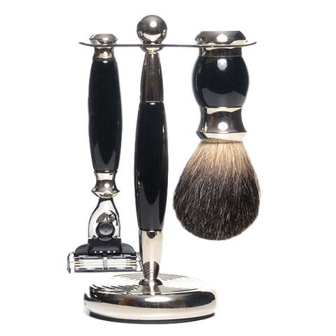pure badger shaving black 3 pc pB-36