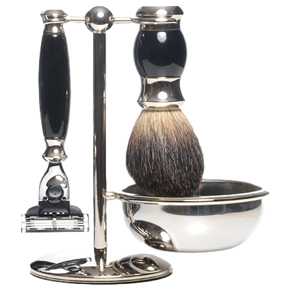 PURE BADGER SHAVING BLACK 4 PC SET PB-45