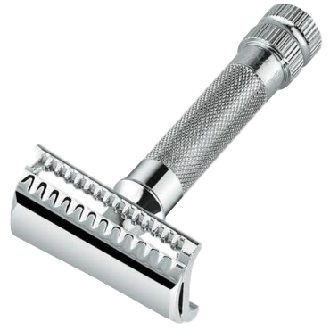 Merkur 37C Double Edge Safety Razor Slant Cut Extra Thick Handle Chrome