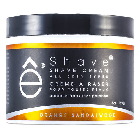 eShave- Shave Cream Orange Sandalwood 4 oz