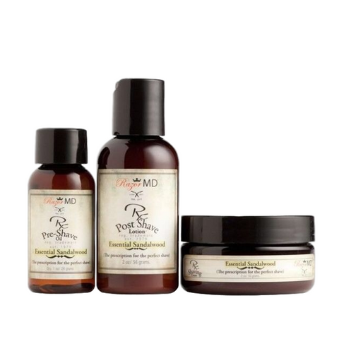 razor md essential sandalwood travel trio