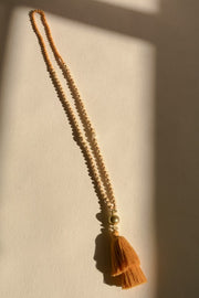 Mika Tassel Necklace (Mustard)