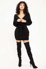 Meant To Be Sweater Dress (Black)