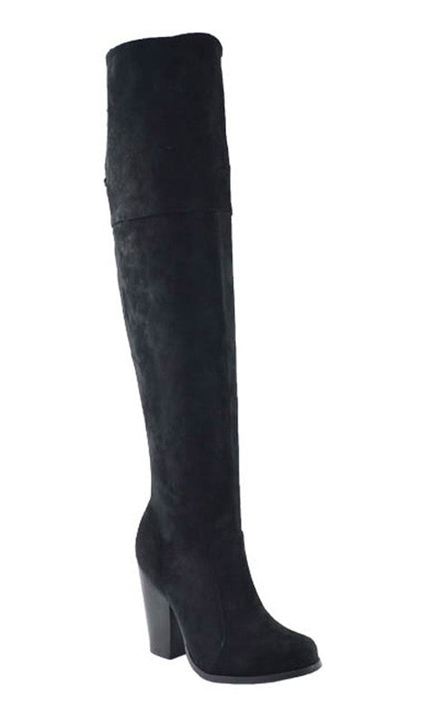 Shelly OTK Boots (Black)