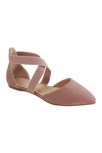 Crossed Off Flats (Rose)