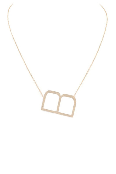 Large Letter Necklace (B)