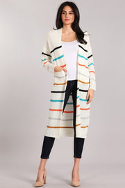 First Glance Striped Cardigan