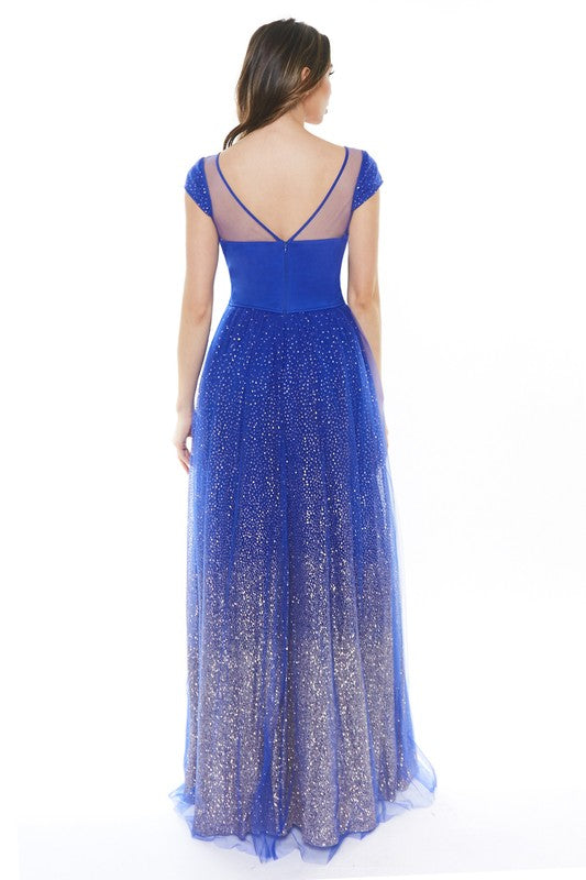 La Fleur Glimmer Gown (Royal Blue) - FINAL SALE